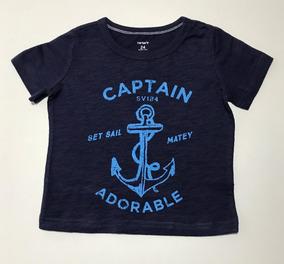 Camiseta Mangas Curtas Carters Originais Meninos