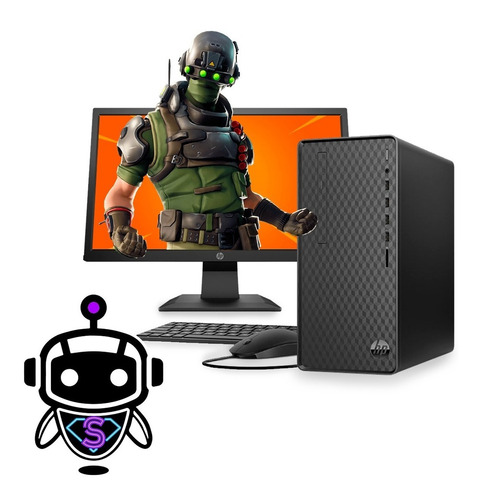 Computador Cpu Hp I3 + 8gb Ram  + 1tb + 128ssd + Monitor Hp