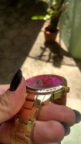 Relógio Feminino Fundo Pink Lindo Promoação