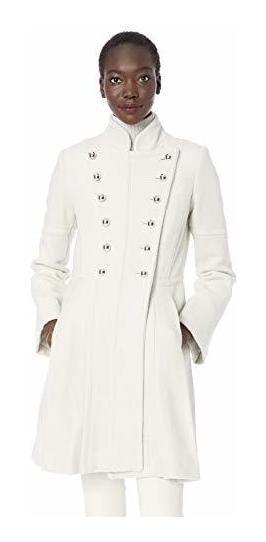 Guess - Abrigo De Lana Para Mujer, Diseño Militar