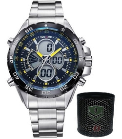Relógio Masculino Weide Anadigi Wh-1103 Original Prova Agua