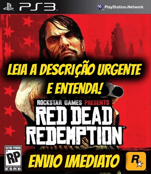 Jogo Red Dead Redemption Ps3 Original Midia Digital Envio Ja