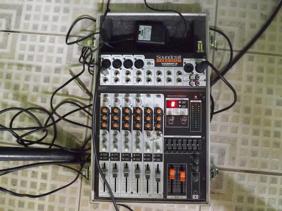 Mesa Som Soundcraft Sx802fx 8 Canais + Case Próprio