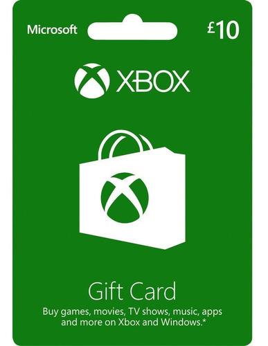 Tarjeta Xbox 10