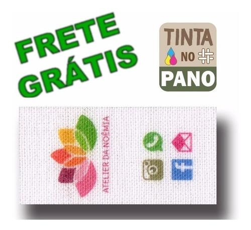 150 Etiquetas Personalizadas Em Algodão P/ Roupa Artesanato.