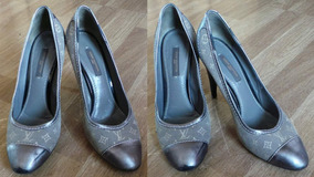 Louis Vuitton Zapatos Mini Lin Monograma Autenticos Nq0078