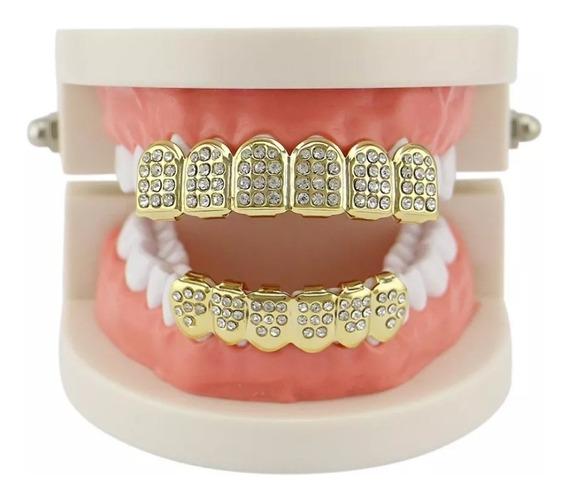 Grillz Dentes Banhado A Ouro