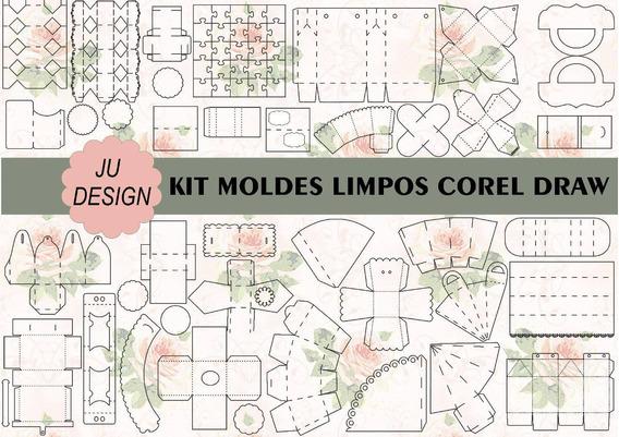 Kit 60 Moldes Limpos Em Cdr Corel