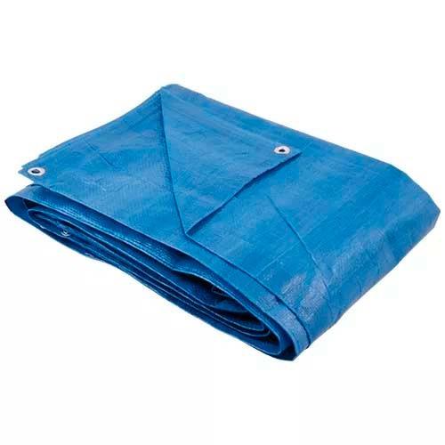 Lona Tipo Carreteiro Encerado Azul 70g/m2 8x4m