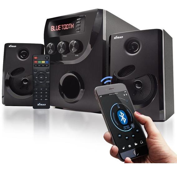 Micro System 2.1 Bluetooth 1000w Mp3 Fm Pc Bivolt Caixa Som