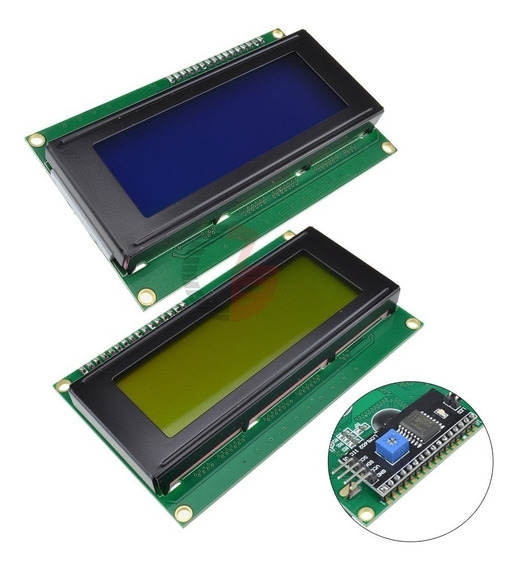 Display Lcd 20x4 Com Backlight + Modulo Ic2 Serial Lcd2004