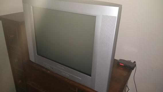 Tv Tela Plana 21 Pol Philips Pt543378r + Conversor Digital