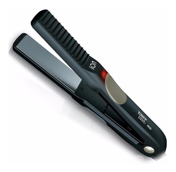 Prancha de cabelo Taiff Look 450 preta com placas de cerâmica 110V/220V