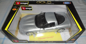 Chevrolet Corvette Miniatura 1:18 Metal Maisto Bburago Gold