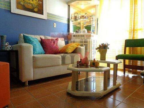 Apartamento À Venda, 85 M² Por R$ 290.000,00 - Tupi - Praia Grande/sp - Ap0233
