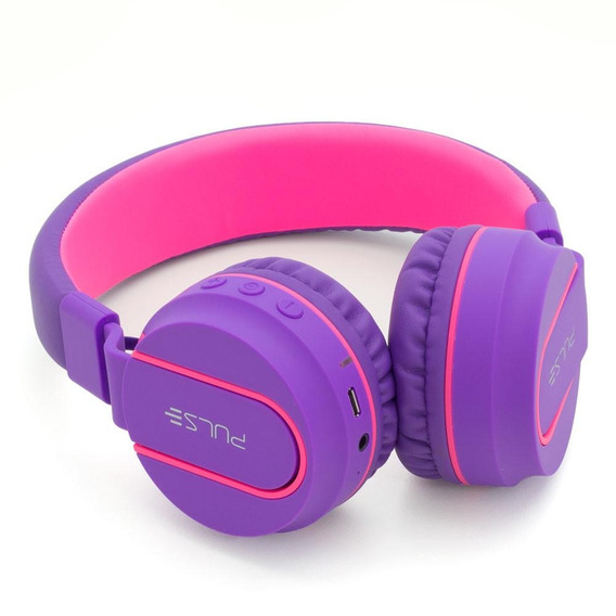 Fone De Ouvido Pulse Fun Bluetooth Series Rosa E Roxo