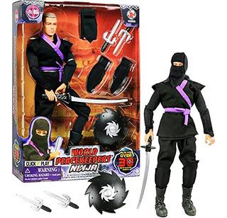Muñeco Ninja Articulado Accesorios Orginal New 90082 Bigshop