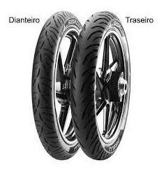 Pneu Pirelli Super City S/cam 80/100/18 + 90/90/18 Fazer 150