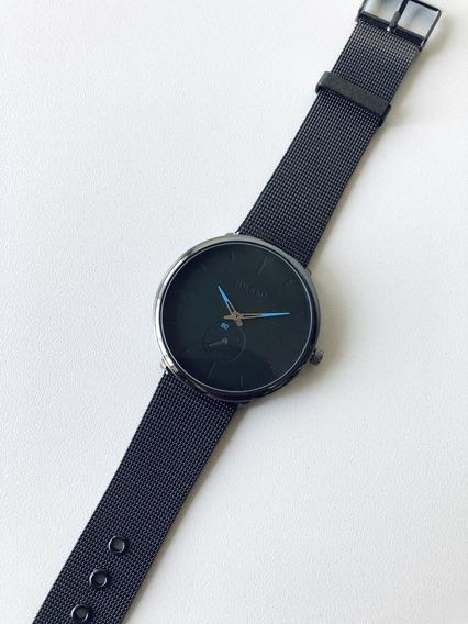 Relógio Masculino Casual Esportivo Pulseira Ajustável Malha