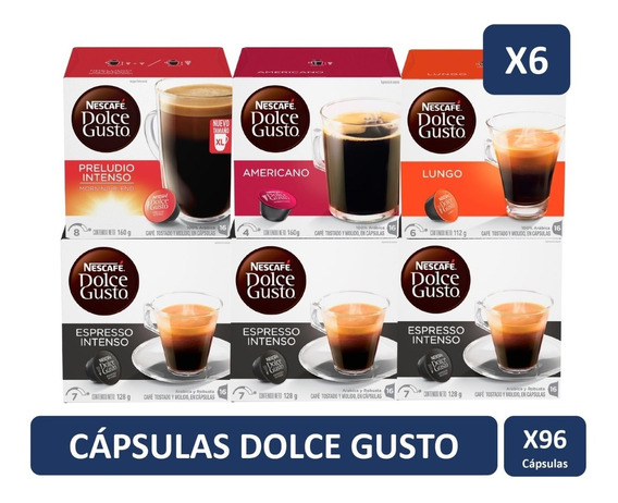 Dolce Gusto Mix Café Negros Pack X6 Cajas