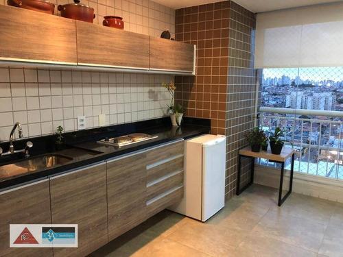 Imagem 1 de 29 de Apartamento Com 3 Dormitórios À Venda, 124 M² Por R$ 1.200.000 - Anália Franco - São Paulo/sp - Ap5697