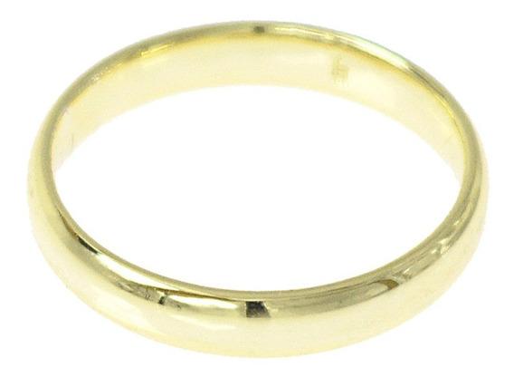 Argolla Anillo Promesa O Matrimonio Chapa De Oro 18k 3.5mm