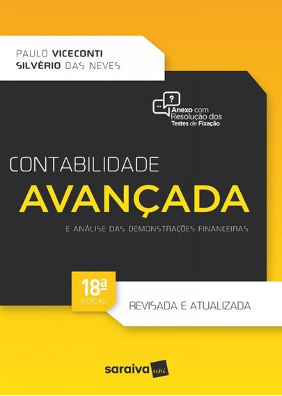Contabilidade Avancada E Analise Das Demonstracoes Financeir