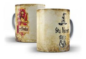 Caneca Porcelana Harry Potter Casas De Hogwarts - Oferta!!!