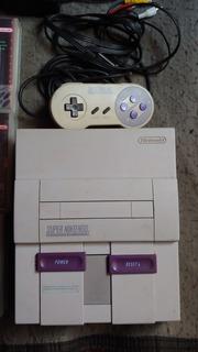 Nintendo Super Nes, 1 Joystick, Cables Y Juegos