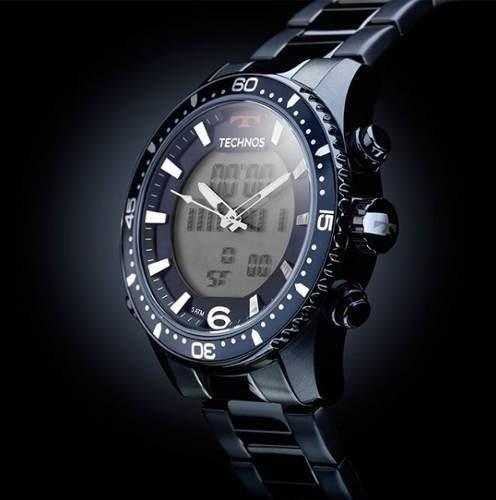 Relógio Technos Masculino Azul Anadigi Ref.- Bjk203aae - C/ Nf Garantia De 1 Ano - Mega Oferta