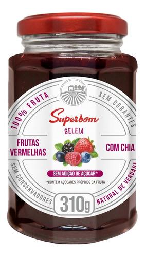 Geleia De Frutas Vermelhas Com Chia 310g - Superbom