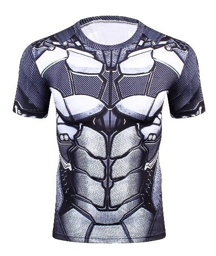Playera Batman Armor Crossfit Gym Dc Super Heroe Armadura