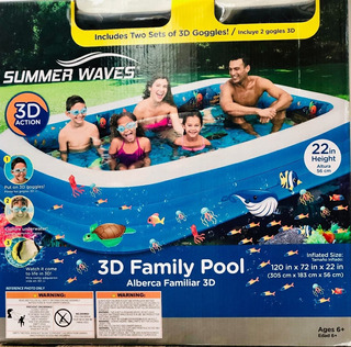 Alberca Inflable Summer Waves 3 M Azul