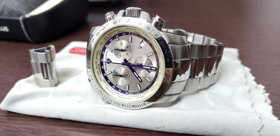 Relógio Cronógrafo Swiss Legend World Timer Máquina Suíça