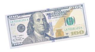 Carteira Masculina Slim 100 Dólares Porta Cédulas + Frete