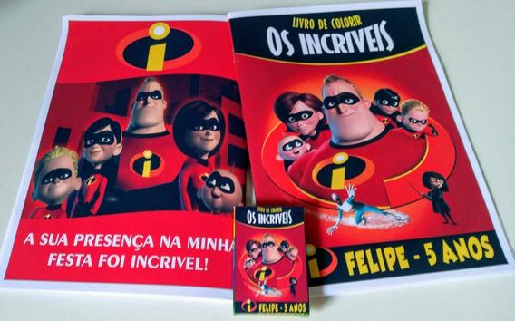 20 Kits Colorir - Livro Personalizado + Giz De Cera + Brinde