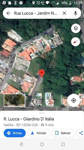 Imagem 1 de 10 de Chácara Com 1240 Metros Em Condomínio Aberto Em Itatiba Sp