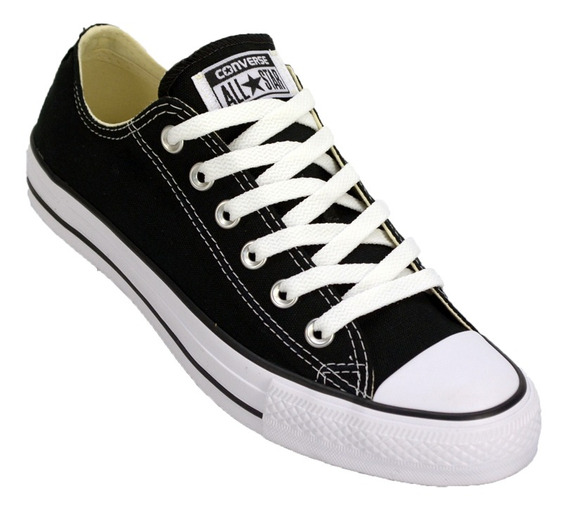Zapatilla Converse All Star Low Lona Color Original Ngo/bco