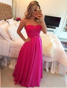 Vestido Madrinha Casamento Evangélica Rosa Pink Formatura