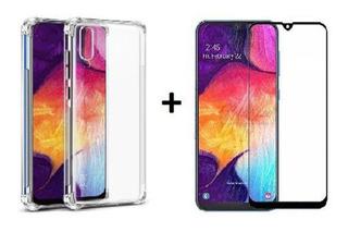 Kit Capa Capinha Case Anti Impacto Samsung M30 + Película 3d