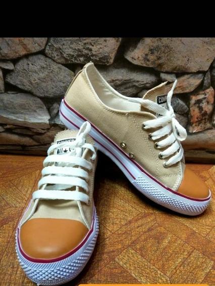 Zapatillas Tipo Converse / Star / Ecocuero Y Panchas.