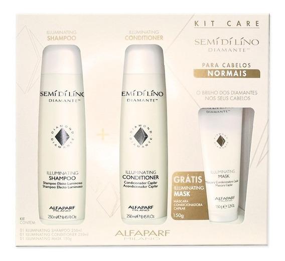 Kit Alfaparf Semi Di Lino Diamante Promocional Sh+cond+masc