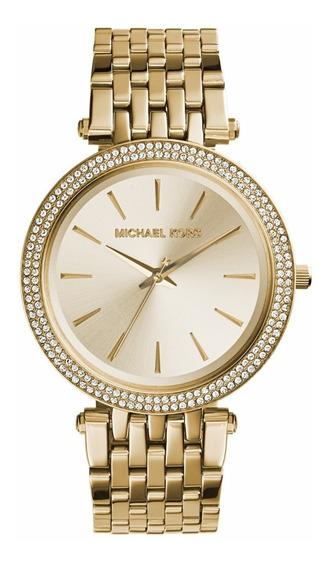 Relógio Pulso Feminino Michael Kors Aço Dourado Mk3191