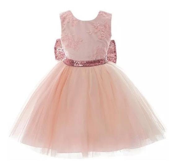 Vestido Importado Bebe Nena Cumpleaños Bautismo Cortejo 065