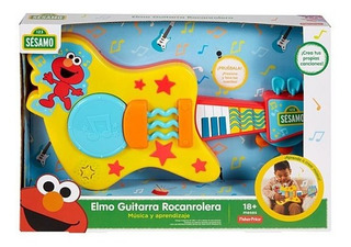 Plaza Sésamo Elmo Guitarra Rocanrolera Fisher Price