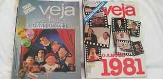 2 Revistas Veja Edição Especial 0 Ano De 1980 E 1981 Raras