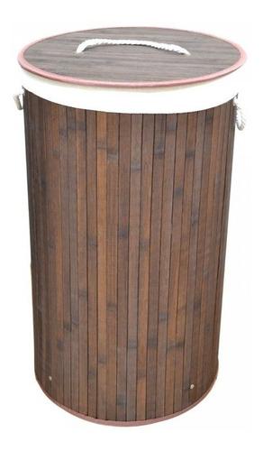 Cesto De Ropa Bambú Con Tapa Y Manijas