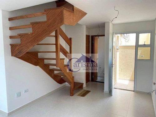 Imagem 1 de 8 de Cobertura Com 2 Dormitórios À Venda, 76 M² Por R$ 315.000,00 - Vila América - Santo André/sp - Co0208