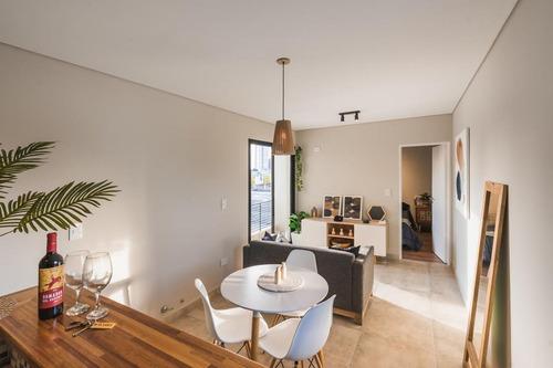 Imagen 1 de 15 de Vendo Departamento De 1 Dormitorio 42 M2 - Terraza Con Parrillero - Guemes 2674