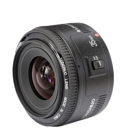 Lente Yongnuo Yn 35mm F/2 Para Canon Envio Imediato
